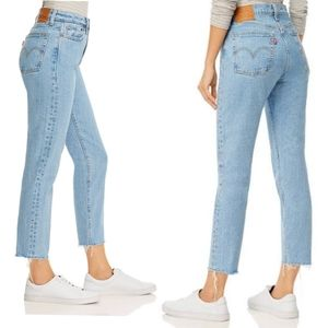 Levi's Wedgie High Rise Jeans Light Wash